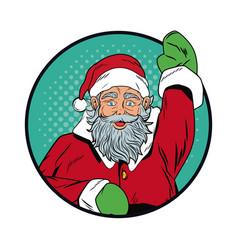santa claus christmas pop art vector image