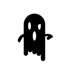 scary halloween ghost icon vector image