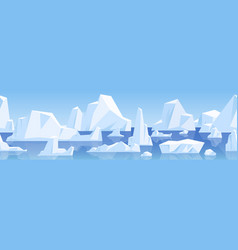 seamless horizontal background with arctic vector image