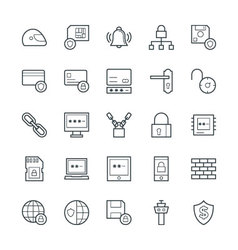 Security Cool Icons 3 vector