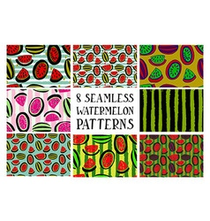 Set of patterns from watermelon vector