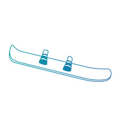 ski sport isolated icon vector image