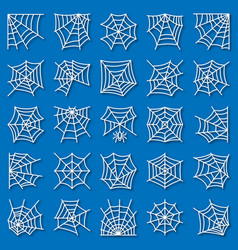 spider web thin line with shadow icon set vector image