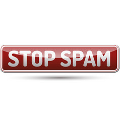 Stop spam button vector