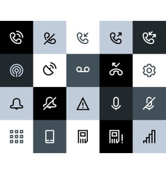 Telephone and call logs icons Flat vector