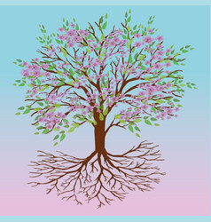tree of life spring version vector image