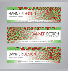 web header design red green banner template vector image