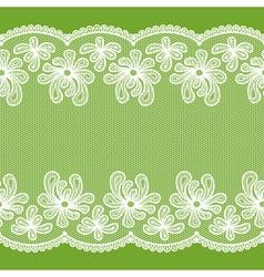 White seamless lacy stripe vector