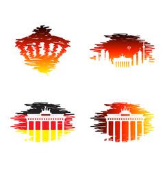 berlin germany line icon vector image