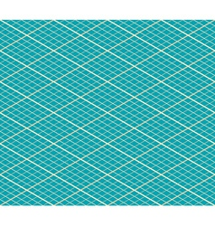 Blue Isometric Seamless Background - Pattern vector image