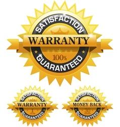 Customer satisfaction guaranteed gold badge vector image