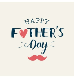 fathers day card heart mustache vector image
