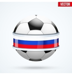 Football ball with Russian flag vector image vector image