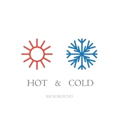 Hot and cold vector image vector image