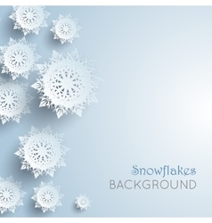 Snowflakes background New Year and Christmas vector image vector image