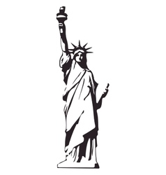 Statue of Liberty USA isolated eps10 vector image