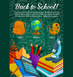 back to school stationery sale poster vector image