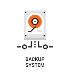 backup system icon vector image