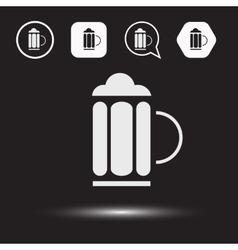 Beer beverage icons Beer logo vector image