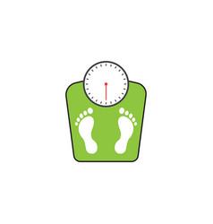 floor scales solid icon human footprints vector image vector image