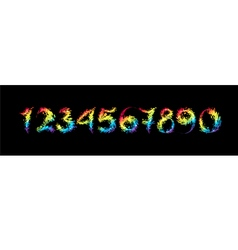 Set multicolored number vector image
