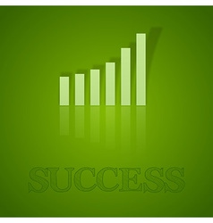 business graph up with text vector image
