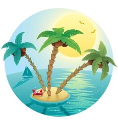 small island landscape vector image vector image