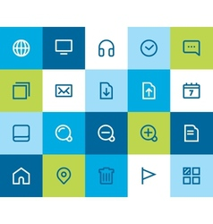 Web and internet icons Flat vector image vector image