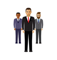 a group of business men vector image