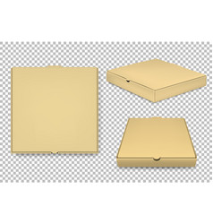 blank pizza box design template set vector image