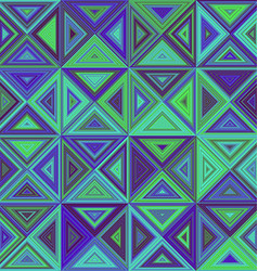 Green blue triangle mosaic background design vector