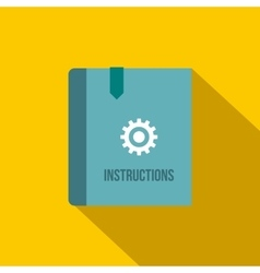 Instruction book icon flat style vector image