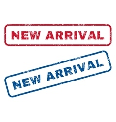 New Arrival Rubber Stamps vector image