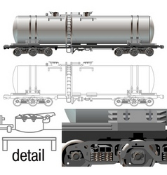 oil gasoline tanker car vector image vector image