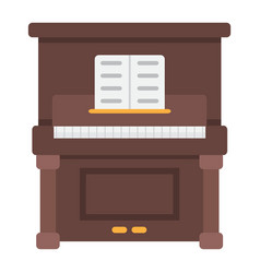 piano flat icon music and instrument vector image vector image
