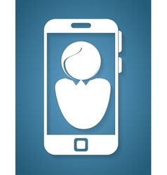 smartphone with user avatar icon vector image