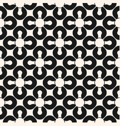 Abstract geometric seamless pattern black and vector