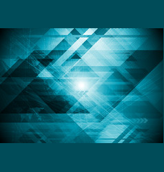 abstract hi-tech futuristic geometrical background vector image