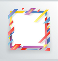Abstract paper frame flyer geometric background vector