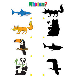 animation silhouettes of animals for the vector image