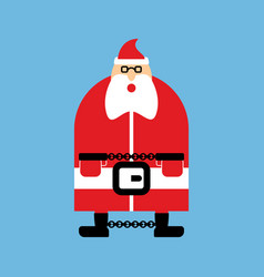 arrested santa claus in handcuffs vector image