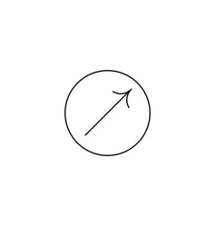 arrow icon in circle arrow icon vector image