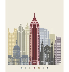 Atlanta skyline poster vector