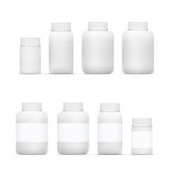 Blank Big Set of Plastic Packaging Bottles vector