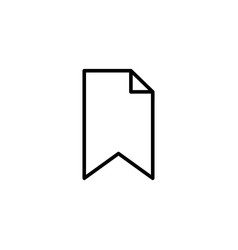 bookmark outline icon vector image