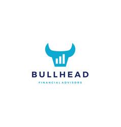 bull finance financial bar chart logo icon vector image