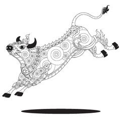 Bull Thai graphic vector