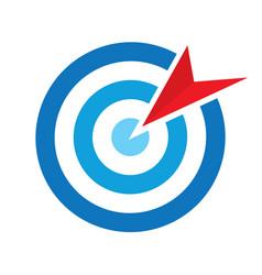 Bullseye symbol vector