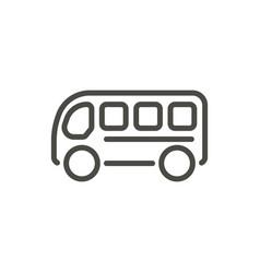 Bus icon line travel symbol vector