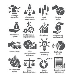 business management icons pack 42 vector image
